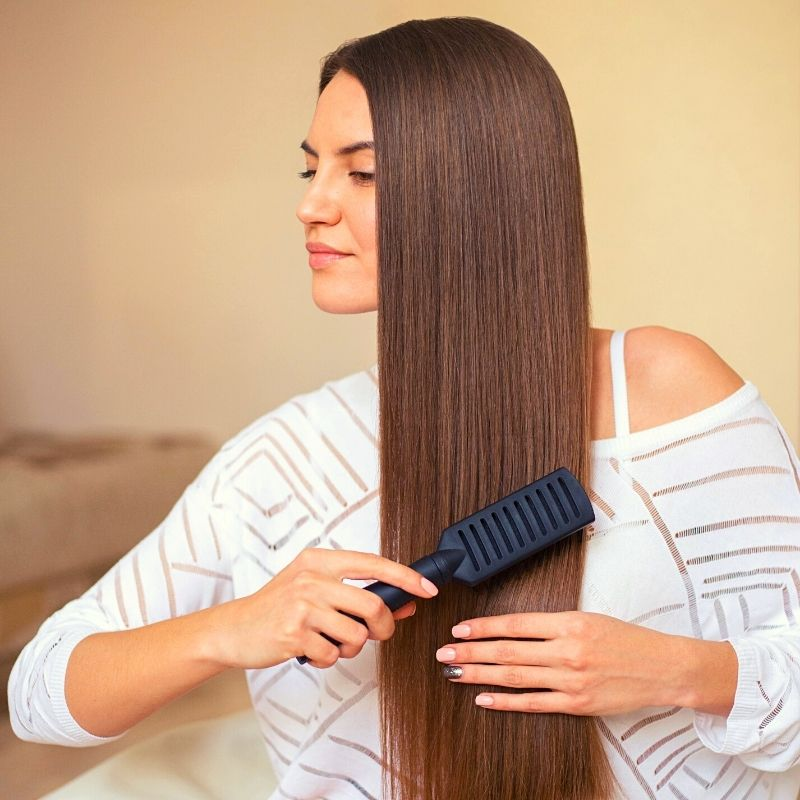 hair straightening at home